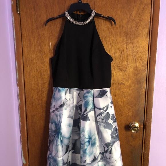 SL Fashions Dresses & Skirts - Black/Blue flower printed dress